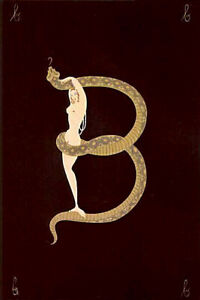 ERTE-034-LETTER-B-034-FROM-ALPHABET-SUITE-1976-MINT-COND-NEVER-FRAMED-FROM-PORTFOLIO