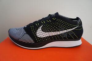 Details zu Nike Flyknit Racer Black White Orca Volt (41-45) 526628011  schwarz weiß