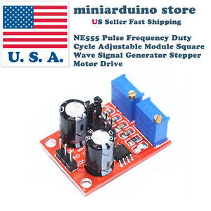 NE555 Duty Cycle and Frequency Adjustable Square Wave Module