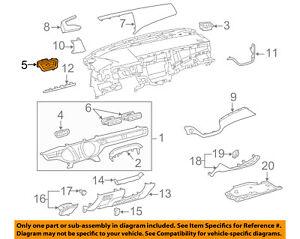 TOYOTA-OEM-13-15-Avalon-Instrument-Panel-Dash-Air-Vent-Grille-Left-5565007040