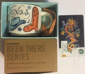 "Starbucks TEXAS 2oz Mug Ornament ""Been There"" Edition & Gift Card NEW, FREE SHIP"