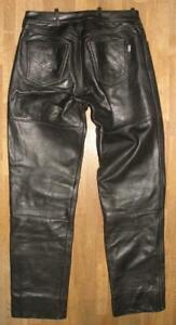 HEIN-GERICKE-CLASSIC-GEAR-LEDERJEANS-Biker-Lederhose-schwarz-ca-W31-034-L33-034