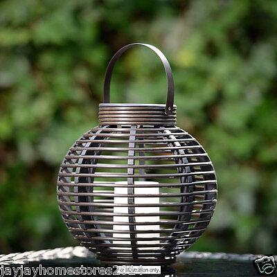 Decorazione Giardino Verona Effetto Rattan Lampada Da Tavolo Con Candela Solare-