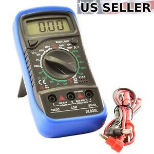 Digital Multimeter AC DC Voltmeter Ammeter Ohmmeter Volt Tester Meter US