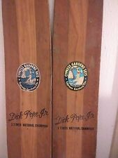Wodden Skis vintage Dick Pope 3 time national champ very rare