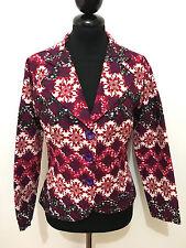 SARTORIA VINTAGE '70 Giacca Donna Cotone Flower Woman Cotton Jacket Sz.XS - 38