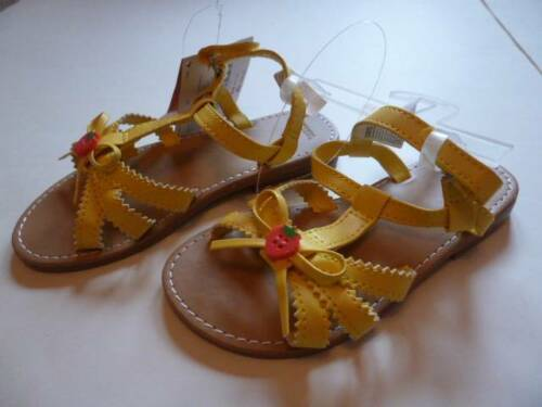 GYMBOREE Strawberry Sweetheart Yellow Sandals Shoes Toddler 3 4 6 8 NEW