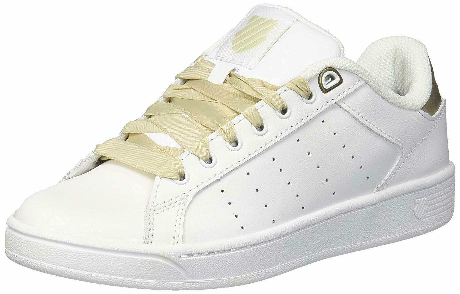 K-Swiss Womens Clean Court CMF Sneaker Oyster White- Pick SZ color.