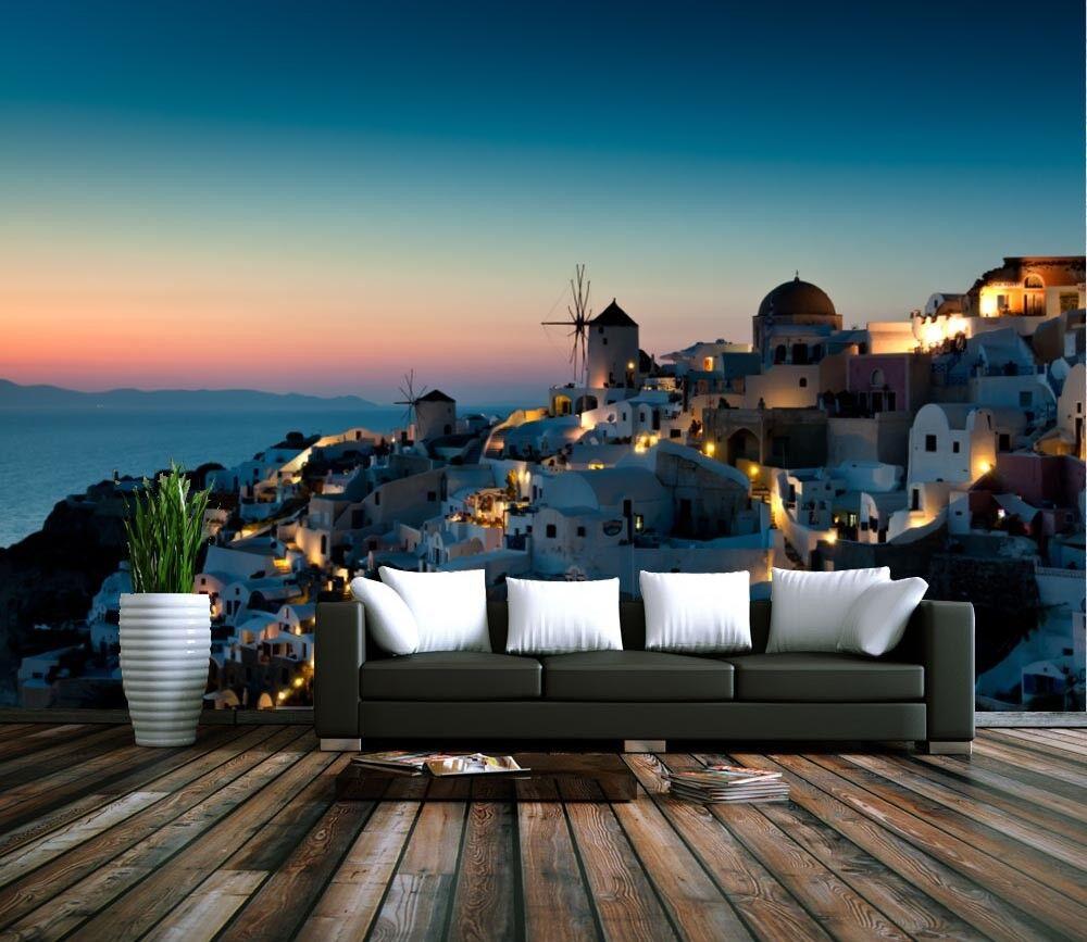 3D Santorini Insel Haus 45 Tapete Tapeten Mauer Foto Familie Tapete Wandgemälde
