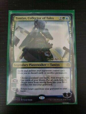 Non Factory Cut MTG Collector of Tales War of the Spark 1x Foil Tamiyo