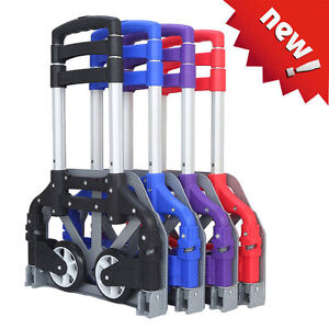 170lbs Aluminium Cart Folding Dolly Push Truck Hand Collapsible Trolley Luggage~