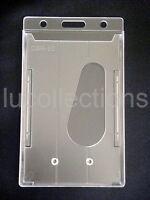 3 Id Badge Holder Hard Plastic Card Holders Vertical P1a -3