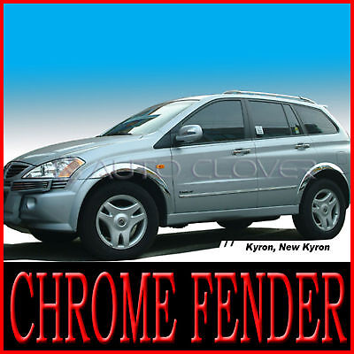 Chrome Fender Molding Trim Garnish 6p For 2006 2011 Ssangyong Actyon Sports