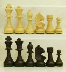 "STAUNTON WOOD CHESS SET WITH 3-5/8"" KING WOODEN CHESSMEN WITH 3.625 INCH KING"