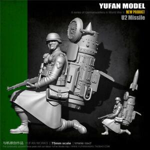 Misil-1-24-U2-soldado-Resin-Kits-Sin-Pintar-Figura-Modelo-GK-sin-montar-75mm