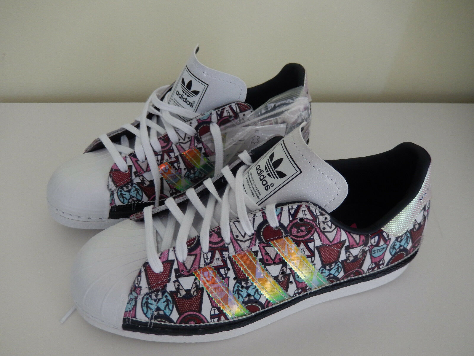 Adidas Mary Katrantzou Superstar Sneakers shoes Womens US 6.5   F 38   NIB