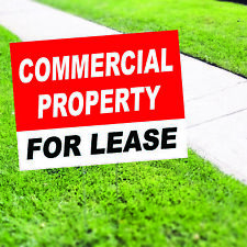 Commercial Property For Lease Plastic Indoor Outdoor Coroplast Yard Sign