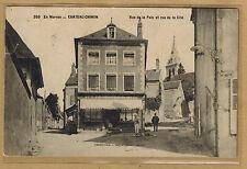 Cpa Château Chinon - rue de la Paix et rue de la Cité wn0843