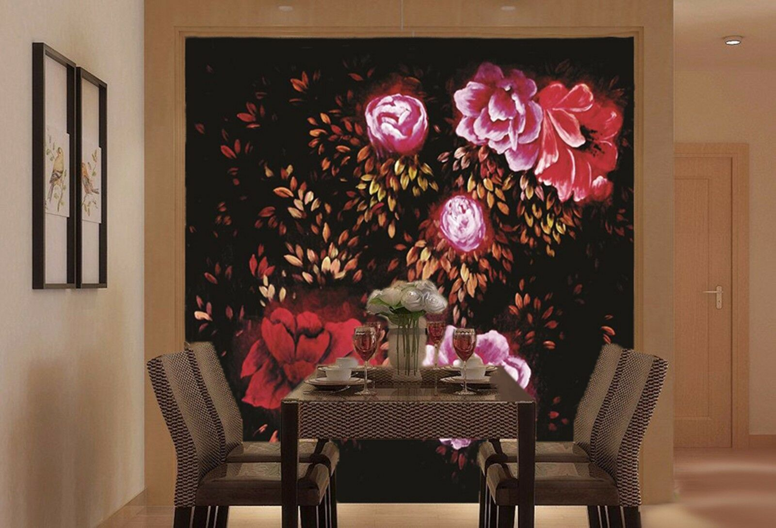 3D Flower group Farbe 352 Wall Paper Wall Print Decal Wall Indoor Murals Wall US