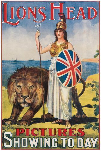 Vintage British Empire Lions Head Pictures Advertising Poster Print A3//A4