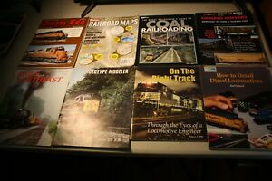 Collection-of-Model-Railroading-Magazines-lot-of-8