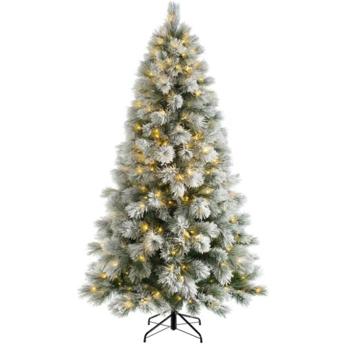 7 Feet PreLit Snow Drift Christmas Tree Multi-Function LED Lights