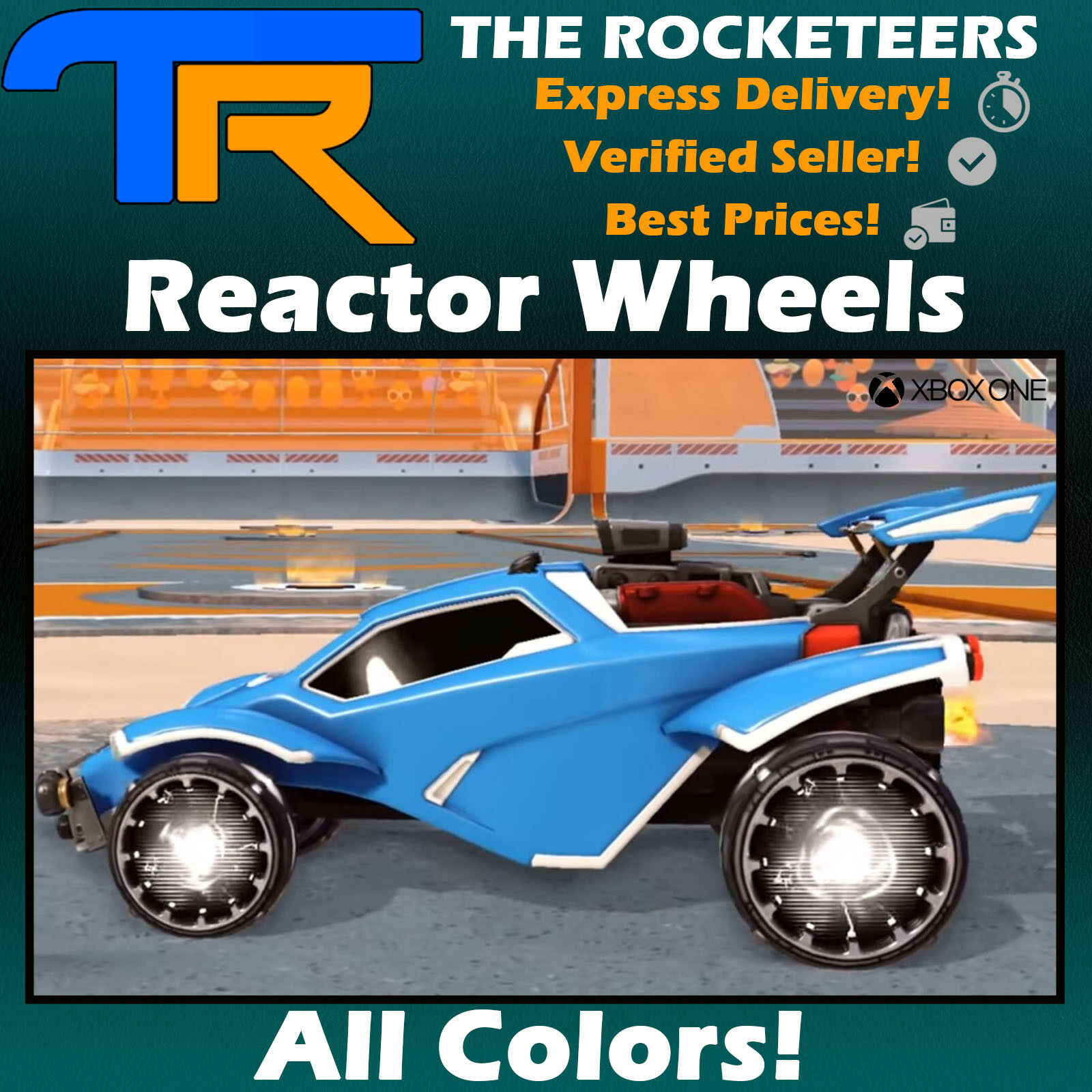 [XBOX] Rocket League Every Painted REACTOR Exotic Wheels Zephyr Crate New