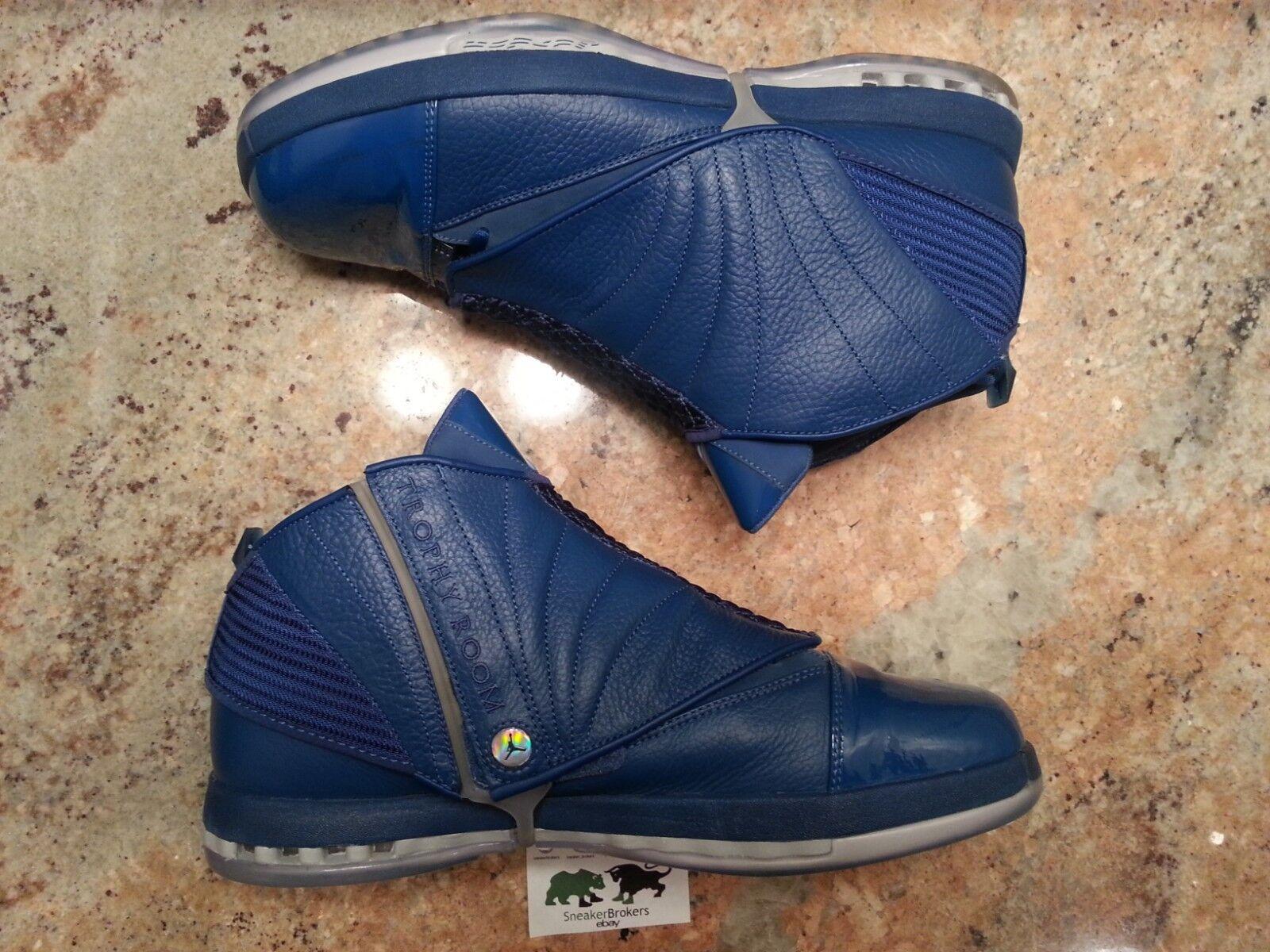 Nike Air Jordan Retro 16 XVI trofeo habitación QS tamaño mujer 13.Azul Navy.854255-416.Baratos zapatos de mujer tamaño zapatos de mujer 7713cc