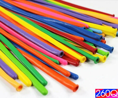 100 Magic Long Balloons Assorted Colour Twist Toy Making Animals Latex Baloons