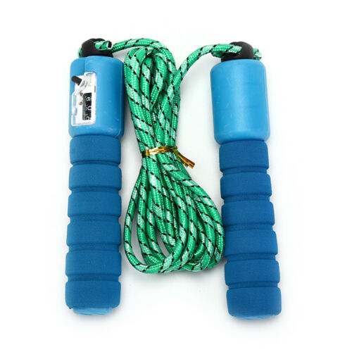1pc adjustable gym sports fitness exercise fast speed counting jump skip rope SG