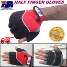 HB Half Fingers Cycling Bicycle Bike Fingerless Cycle Unisex Gloves S,M,L,XL