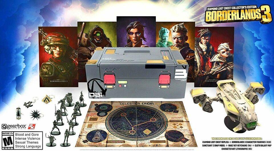 Borderlands 3 diamond loot chest collectors editio, PS4,