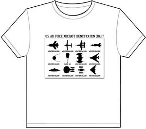 Details about AIRCRAFT IDENTIFICATION CHART T-SHIRT TEE PICTURE PHOTO funny  planes ufo usa 5