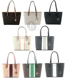 Michael-Kors-Jet-Set-Medium-Carryall-Signature-PVC-Tote-Handbag