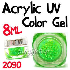 Nail-Art-Light-Green-8ml-0-25oz-UV-Builder-Dust-Glitter-Gel-Acrylic-Polish