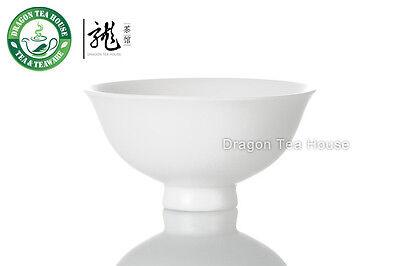Wide-brimmed White Porcelain Gongfu Teacup 60ml 2oz