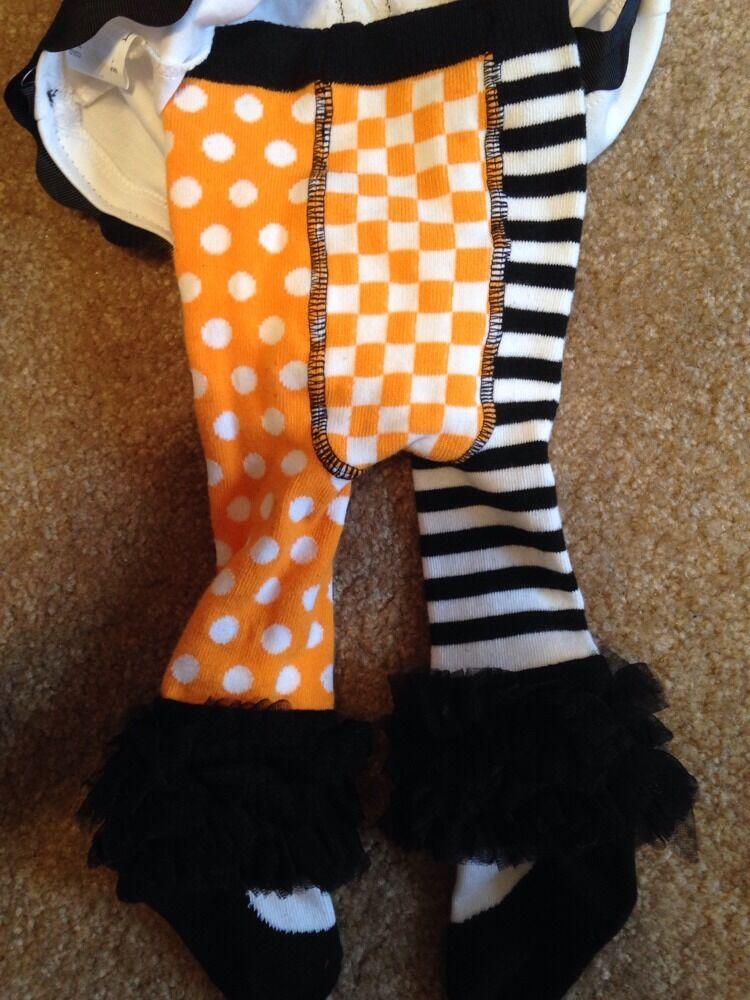New Mud Pie 2 Styles Fuzzy Dots Tights Black/& White Polka 0-6 Months gift