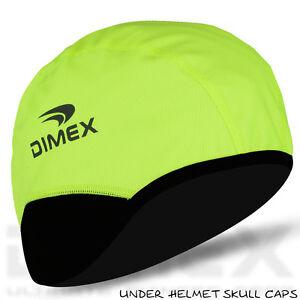 Cycling-Skull-Cap-Under-Helmet-Motorbike-Winter-Thermal-Windstopper-Hi-Viz-Green