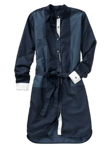 GAP Women/'s Colorblock Oxford SHIRT DRESS Size SMALL PETITE NWT
