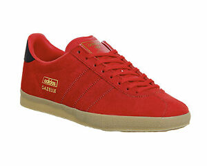 Image is loading Mens-Adidas-Gazelle-Og-RED-BLACK-EXCLUSIVE-Trainers- 1a9870d5f