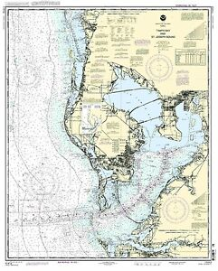 NOAA Chart Tampa Bay and St. Joseph Sound 46th Edition 11412