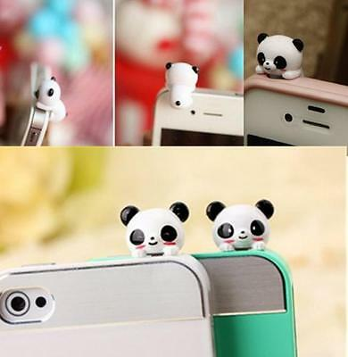 1* Cell Phone Panda Type Anti-Dust Plug Earphone Dustproof Cover Stopper Cap DIS