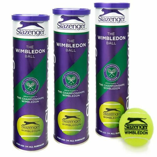 Dunlop Slazenger Wimbledon Tennis Ball All Surface Championship 1 Dozen Balls