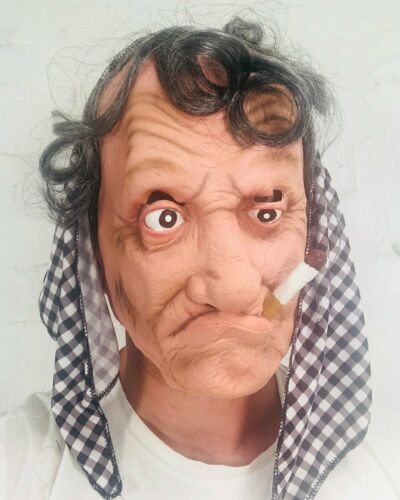 Anziana donna nonna Maschera Capelli Grigi LADY Suora Halloween Fancy Dress Maschere