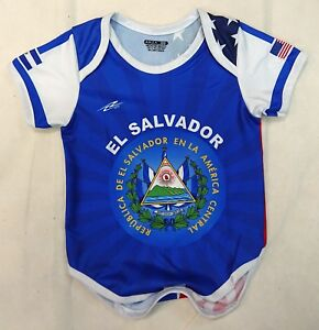 4d485ef4842 El Salvador USA Soccer Baby Outfit Mameluco New W O Tag Sizes 3 to ...