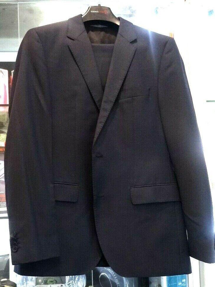 Hugo Boss Super 100 Virgin Wool Suit Dark Navy bluee Size 40R