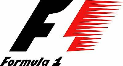 Formula 1 F1 x 2 Vinyl Cut Decal Sticker