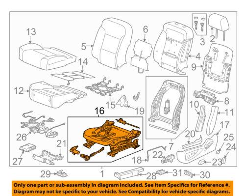 2014-2018 SILVERADO SIERRA 6 WAY POWER SEAT ADJUSTER FRAME W// MEMORY GM 13518953