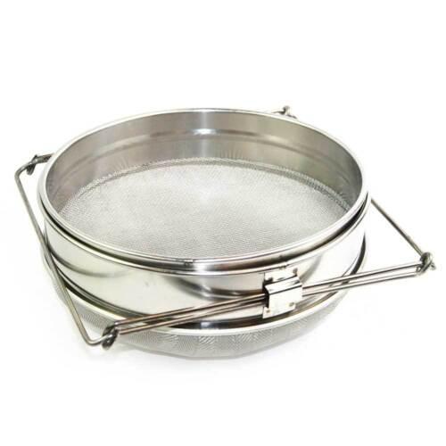 Food Grade 304 Double Sieve Stainless Steel Bucket Top Honey Strainer GLSTRAINER