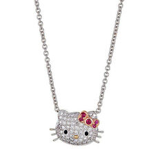 Kimora Lee Simmons Hello Kitty Diamond & Ruby Necklace in 18kt Gold